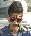 KEEP CALM AND love anjalo - Personalised Tea Towel: Premium