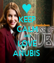 KEEP CALM AND LOVE ANUBIS  - Personalised Tea Towel: Premium