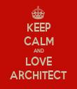 KEEP CALM AND LOVE ARCHITECT - Personalised Tea Towel: Premium
