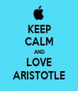 KEEP CALM AND LOVE ARISTOTLE - Personalised Tea Towel: Premium