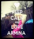 KEEP CALM AND LOVE ARMINA  - Personalised Tea Towel: Premium