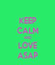 KEEP CALM AND LOVE ASAP - Personalised Tea Towel: Premium