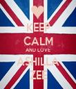 KEEP CALM AND LOVE ASHILLA ZEE - Personalised Tea Towel: Premium