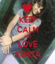 KEEP CALM AND LOVE ASHITA - Personalised Tea Towel: Premium