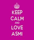 KEEP CALM AND LOVE ASMI - Personalised Tea Towel: Premium