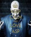 KEEP CALM AND LOVE ASP - Personalised Tea Towel: Premium