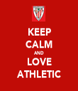 KEEP CALM AND LOVE ATHLETIC - Personalised Tea Towel: Premium