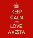 KEEP CALM AND LOVE  AVESTA - Personalised Tea Towel: Premium