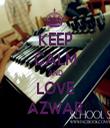 KEEP CALM AND LOVE AZWAR - Personalised Tea Towel: Premium