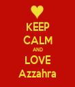 KEEP CALM AND LOVE Azzahra - Personalised Tea Towel: Premium