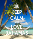 KEEP CALM AND LOVE BAHAMAS - Personalised Tea Towel: Premium