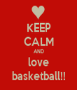 KEEP CALM AND love basketball!! - Personalised Tea Towel: Premium
