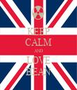 KEEP CALM AND LOVE BEAN - Personalised Tea Towel: Premium