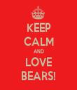 KEEP CALM AND LOVE BEARS! - Personalised Tea Towel: Premium