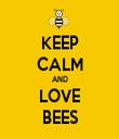 KEEP CALM AND LOVE BEES - Personalised Tea Towel: Premium