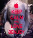 KEEP CALM AND LOVE BENJEY - Personalised Tea Towel: Premium