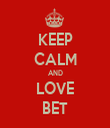 KEEP CALM AND LOVE BET - Personalised Tea Towel: Premium