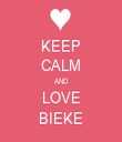 KEEP CALM AND LOVE BIEKE - Personalised Tea Towel: Premium