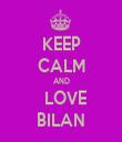 KEEP CALM AND   LOVE BILAN - Personalised Tea Towel: Premium