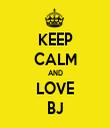KEEP CALM AND LOVE BJ - Personalised Tea Towel: Premium