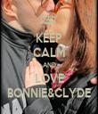 KEEP CALM AND LOVE BONNIE&CLYDE - Personalised Tea Towel: Premium