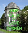 KEEP CALM AND LOVE BORNEM - Personalised Tea Towel: Premium