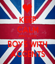 KEEP CALM AND LOVE BOYS WITH ACCENTS - Personalised Tea Towel: Premium