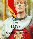 Keep Calm And LOVE  Bradley James - Personalised Tea Towel: Premium