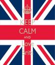 KEEP CALM AND Love Brits - Personalised Tea Towel: Premium