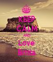 KEEP CALM AND Love Britta - Personalised Tea Towel: Premium