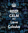 KEEP CALM AND Love Calculus - Personalised Tea Towel: Premium
