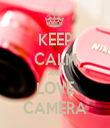 KEEP CALM AND LOVE CAMERA - Personalised Tea Towel: Premium