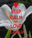 KEEP CALM AND LOVE CAMIA - Personalised Tea Towel: Premium