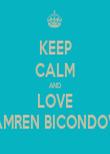 KEEP CALM AND LOVE CAMREN BICONDOVA - Personalised Tea Towel: Premium