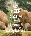 KEEP CALM AND Love  capybaras - Personalised Tea Towel: Premium