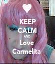 KEEP CALM AND Love  Carmelita  - Personalised Tea Towel: Premium