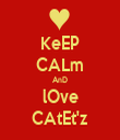 KeEP CALm AnD lOve CAtEt'z - Personalised Tea Towel: Premium