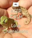 KEEP CALM AND Love Chameleons  - Personalised Tea Towel: Premium