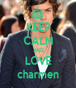 KEEP CALM AND LOVE charmen - Personalised Tea Towel: Premium