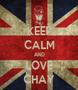 KEEP CALM AND LOVE CHAY - Personalised Tea Towel: Premium