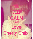 KEEP CALM AND Love Cherly Chibi  - Personalised Tea Towel: Premium