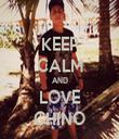 KEEP CALM AND LOVE CHINO - Personalised Tea Towel: Premium