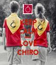 KEEP CALM AND LOVE CHIRO - Personalised Tea Towel: Premium