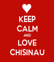 KEEP CALM AND LOVE CHISINAU - Personalised Tea Towel: Premium