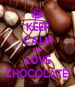 KEEP CALM AND LOVE CHOCOLATE! - Personalised Tea Towel: Premium
