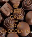 KEEP CALM AND LOVE CHOCOLATES - Personalised Tea Towel: Premium