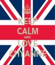KEEP CALM AND LOVE CHYANNE - Personalised Tea Towel: Premium