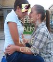 KEEP CALM AND LOVE CIRA - Personalised Tea Towel: Premium