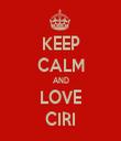 KEEP CALM AND LOVE CIRI - Personalised Tea Towel: Premium