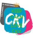 KEEP CALM AND LOVE CKV - Personalised Tea Towel: Premium